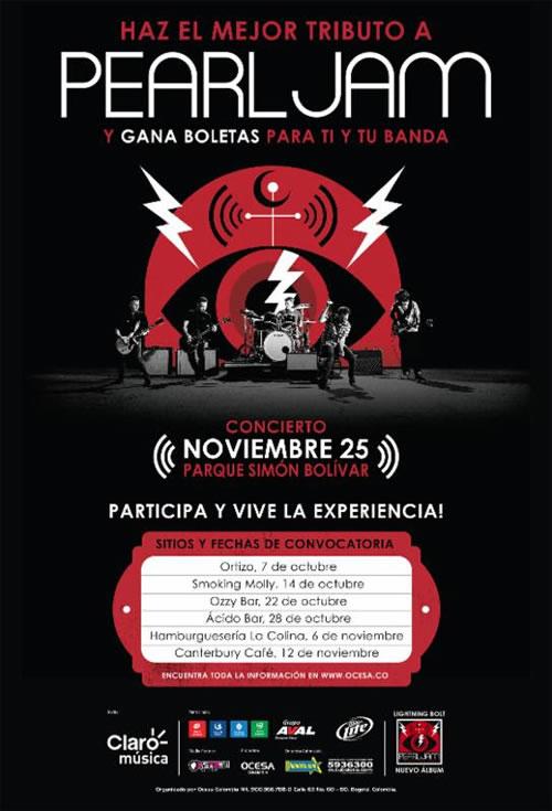 Ocesa Colombia busca una banda tributo a Pearl Jam