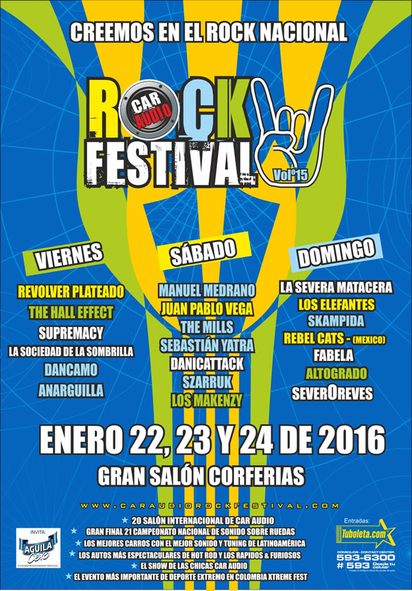 Afiche Car Audio Rock Festival 2016