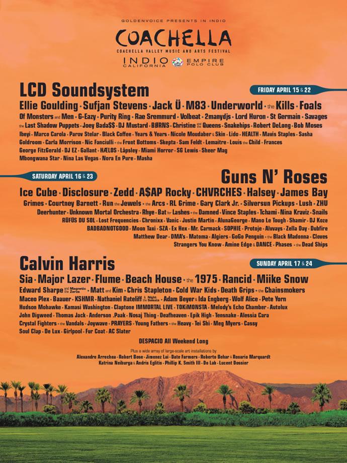 Afiche Coachella 2016