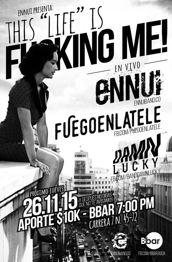 Afiche lanzamiento EP Ennui