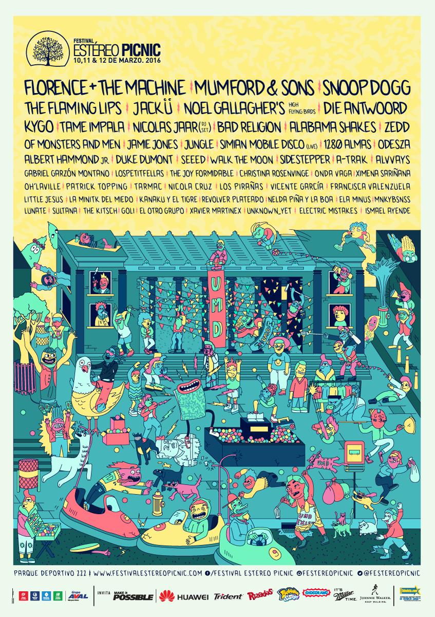 Afiche oficial Estereo Picnic 2016