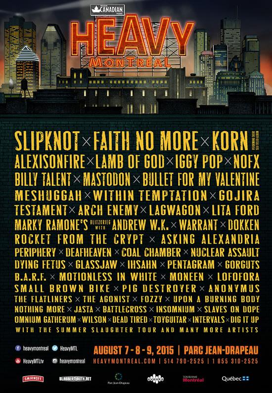 Afiche Heavy Montreal 2015