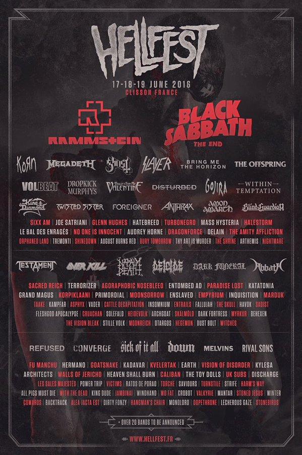 Afiche Oficial HellFest 2016