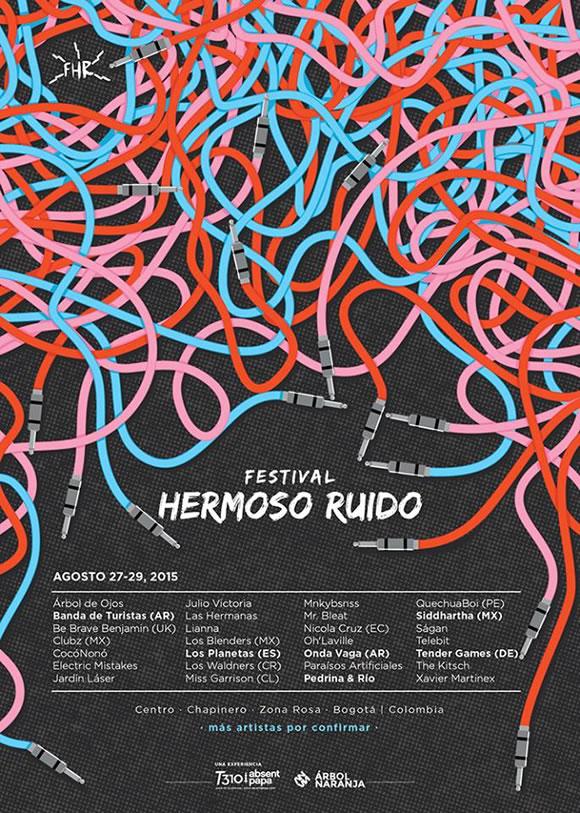 Afiche Festival Hermoso Ruido 2015