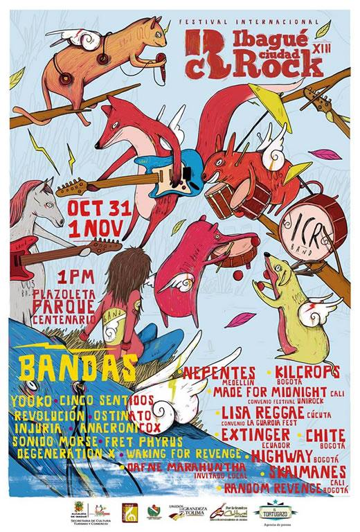 Afiche Ibague Ciudad Rock 2015