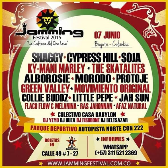 Afiche oficial del Jamming Festival 2015