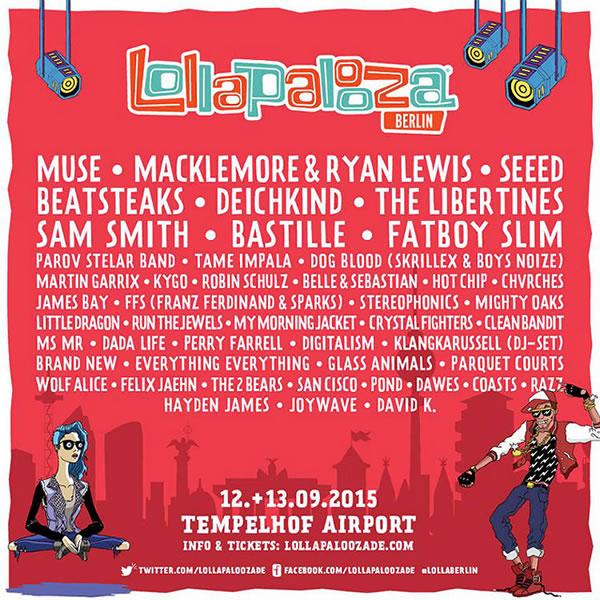 Afiche de Lollapalooza Berlín 2015