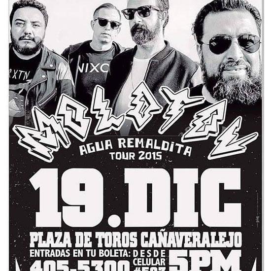 Afiche oficial concierto Molotov en Cali