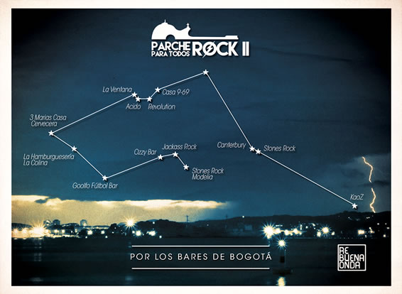 Esta es la ruta del Parche Rock II