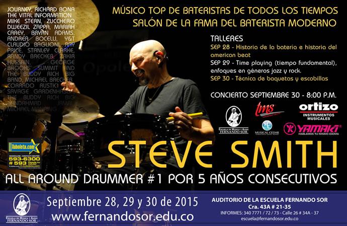 Afiche Steve Smith en Bogotá