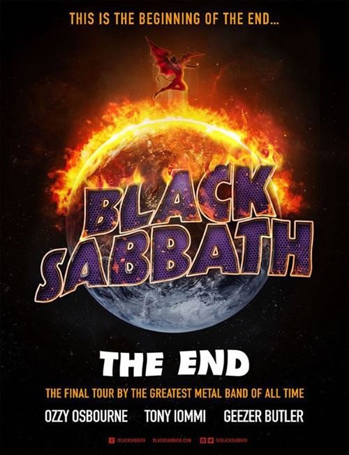 Afiche del Tour de despedida de Black Sabbath