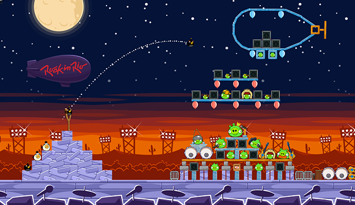 Nivel de Angry Birds, Rock in Rio USA 2015
