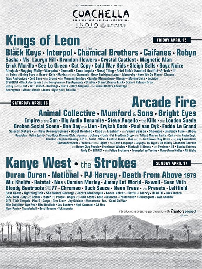 Cartel Coachella 2011