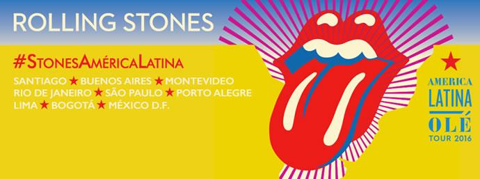 Afiche de la gira por Latino América de The Rolling Stones