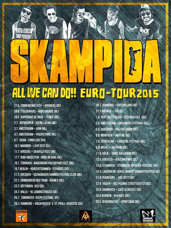Fechas de la gira de Skampida por Europa 2015