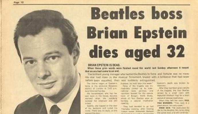 (27/08/1967) Murió Brian Epstein