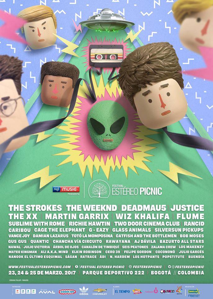 Afiche Oficial Estéreo Picnic 2017