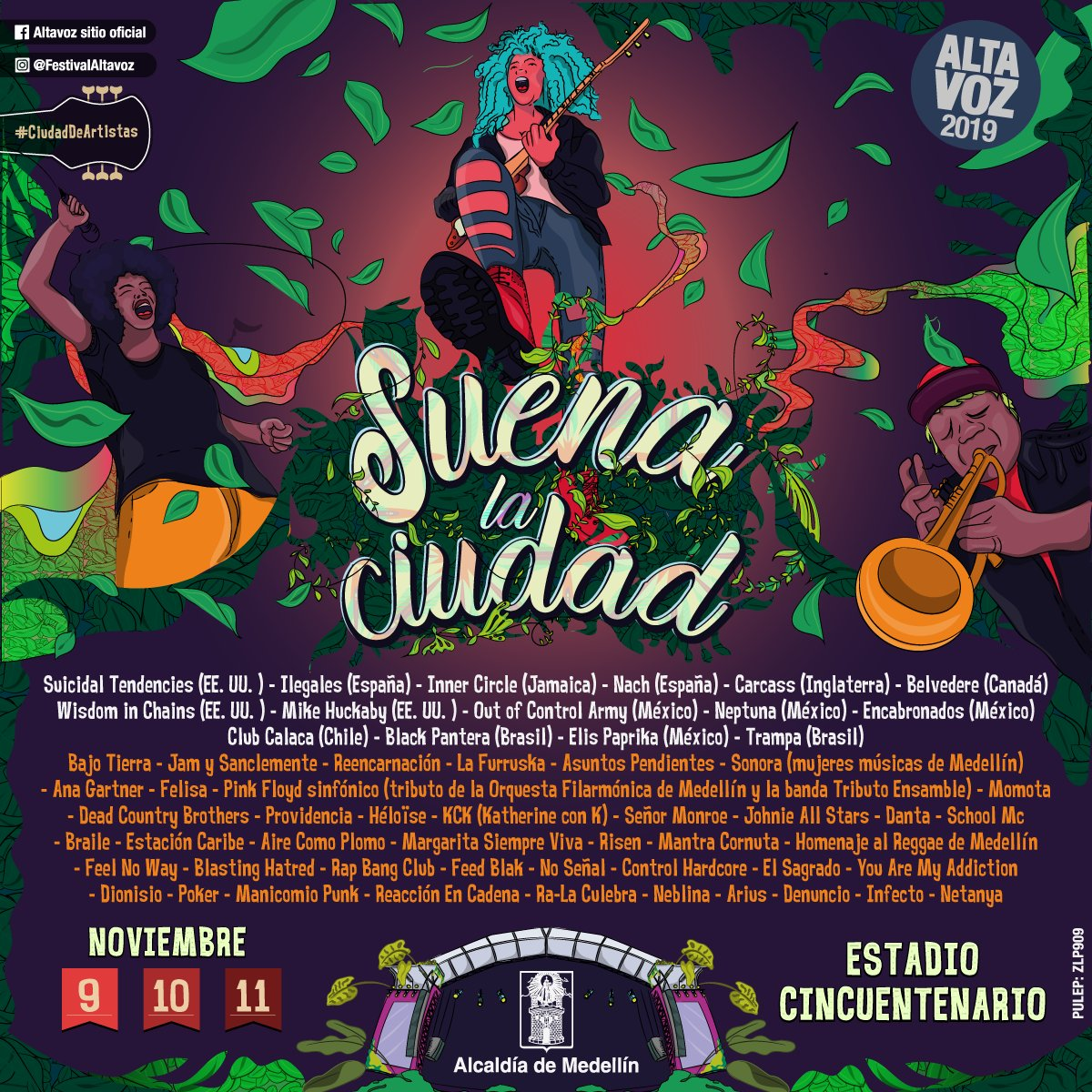 Afiche oficial Festival Altavoz 2019
