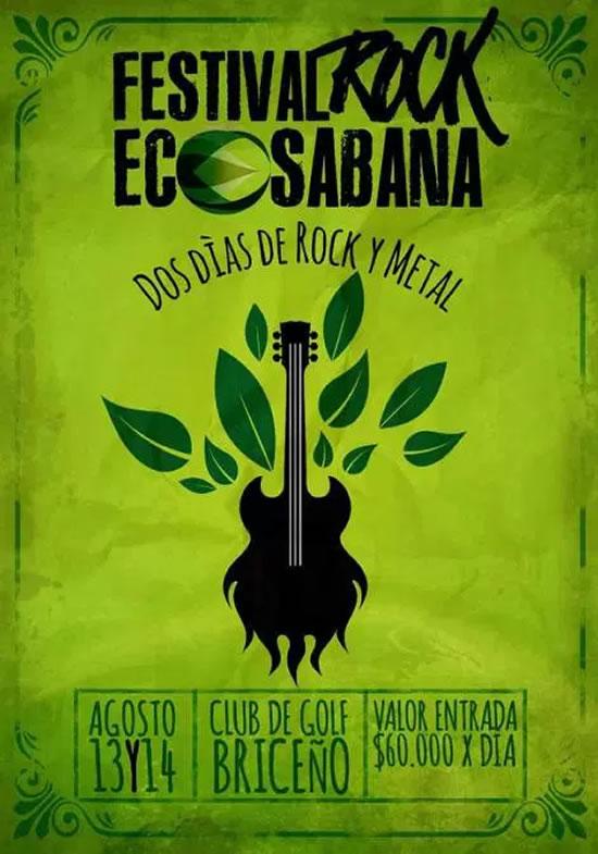 Afiche oficial del Festival Rock Eco Sabana 2016
