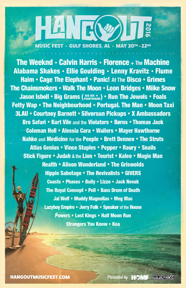 Afiche Hangout Music Festival 2016