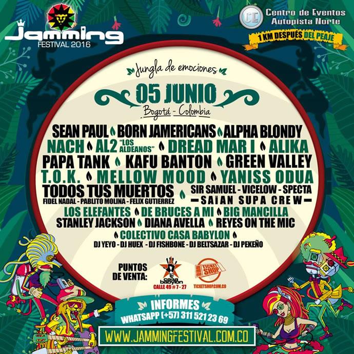 Afiche oficial Jamming Festival 2016