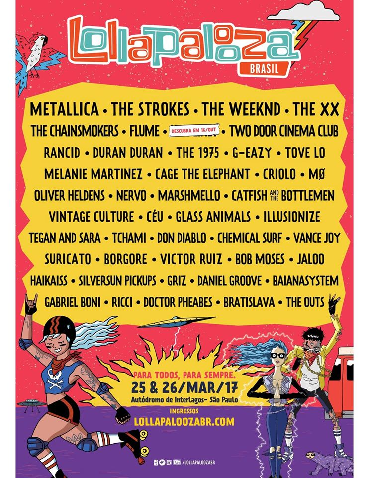 Afiche oficial Lollapalooza Brasil