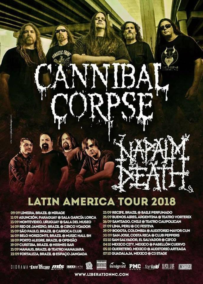 Afiche Oficial Gira de Cannibal Corpse