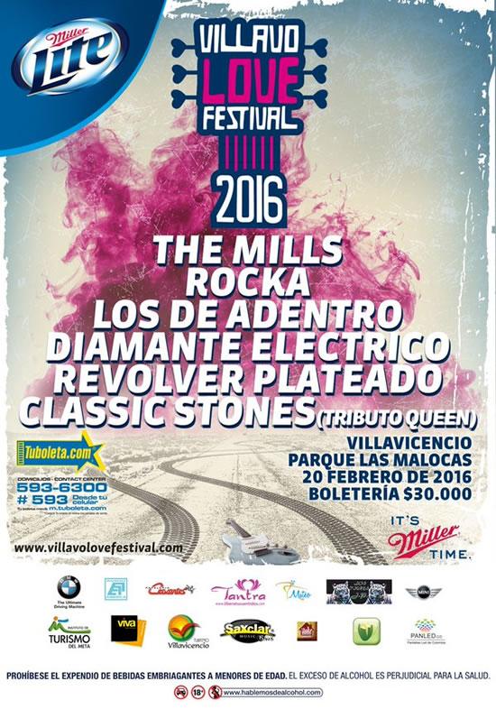 Afiche Villavo Love Festival 2016