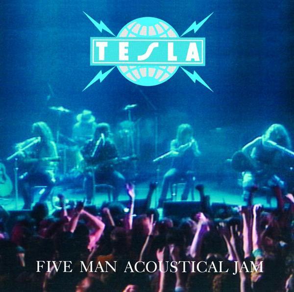 """Carátula """"Five Man Acoustical Jam"""" de Tesla"""