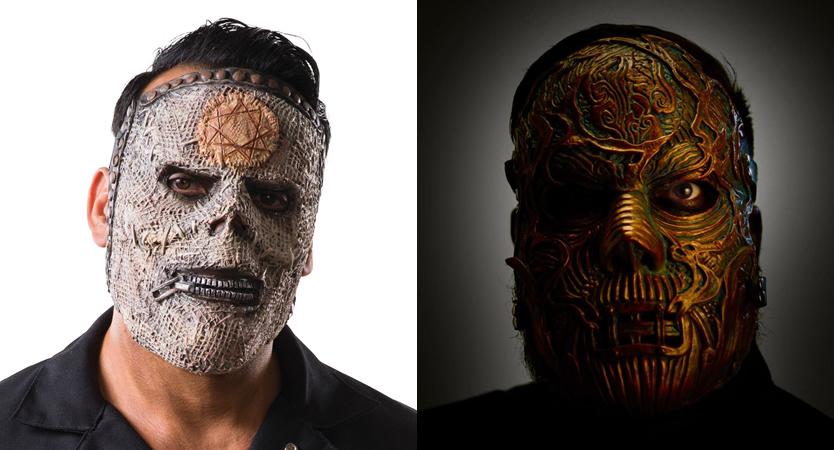 Evolución de las dos máscaras de Alessandro Venturella de Slipknot