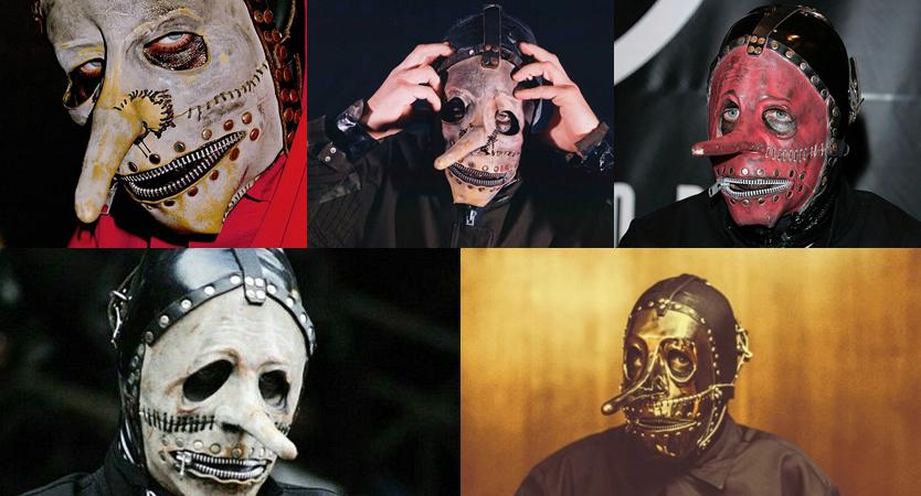 Evolución de máscaras de Chris Fehn de Sliknot