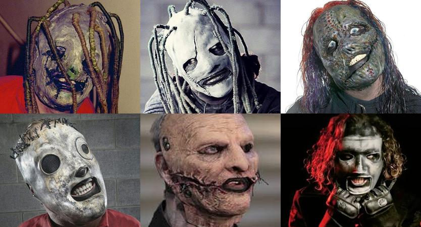 Evolución de máscaras de Corey Taylor de Slipknot