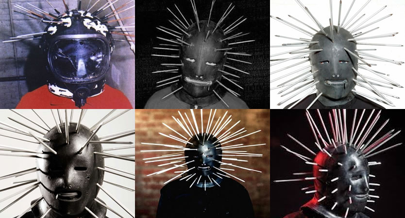 Evolución de máscaras de Craig Jones de Slipknot