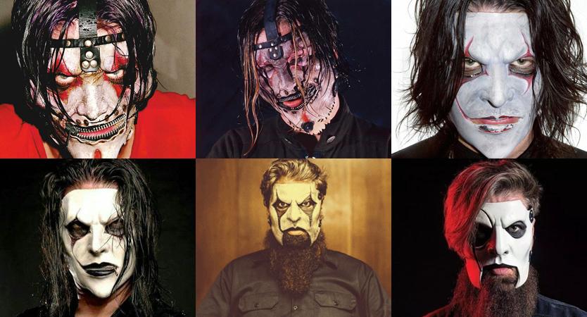 Evolución de máscaras de Jim Root de Slipknot