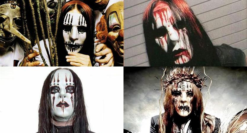 Evolución de máscaras de Joey Jordison de Slipknot