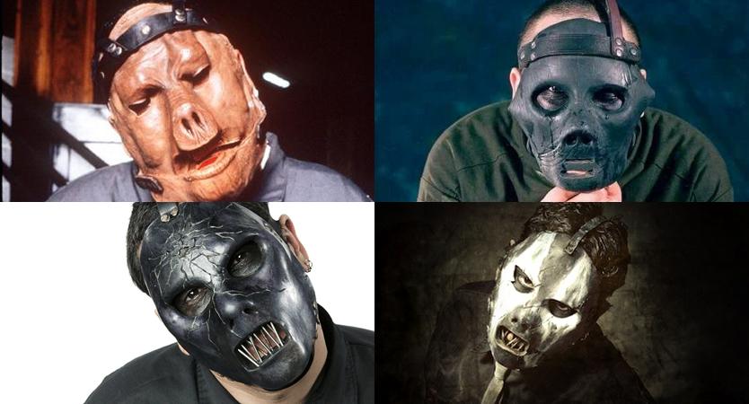 Evolución de máscaras de Paul Gray de Slipknot