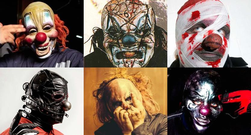 Evolución de máscaras de Shawn Crahan de Slipknot