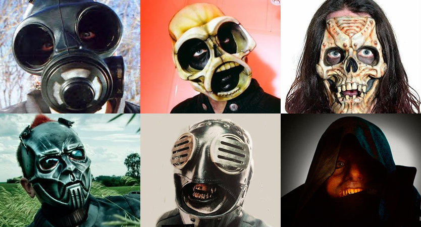 Evolución de máscaras de Sid Wilson de Slipknot