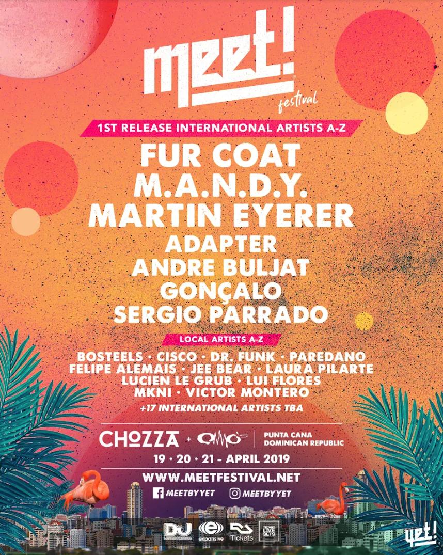 Este es el cartel del Meet! 2019 en Punta Cana