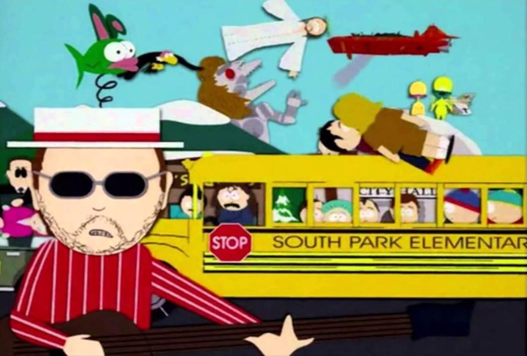 Les Claypool de Primus en la introducción de South Park