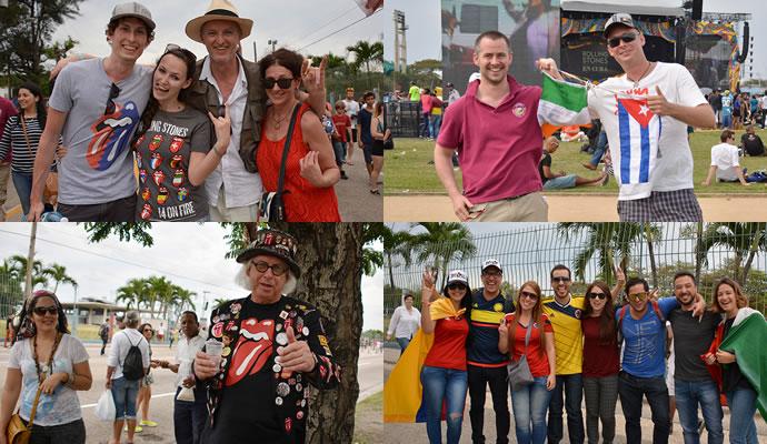 Público asistente a The Rolling Stones en Cuba. Fotos: Felipe Rocha