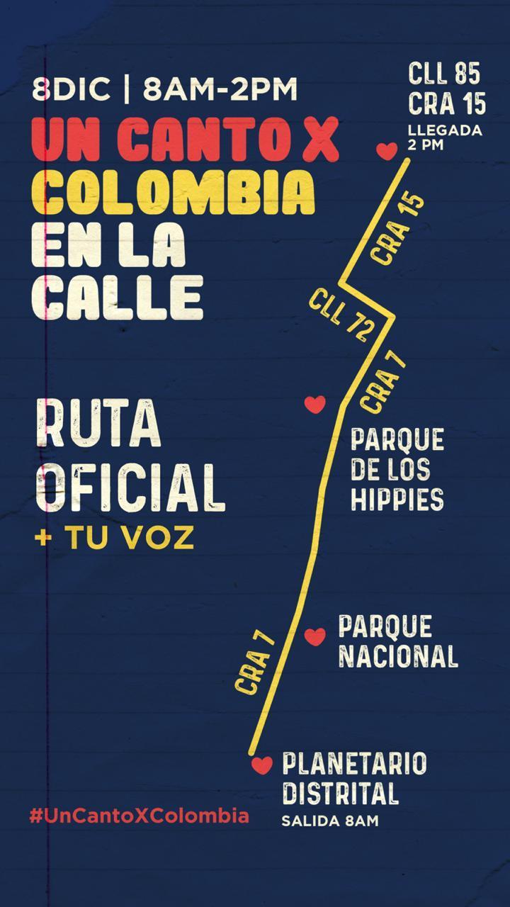 Ruta de #UnCantoXColombia