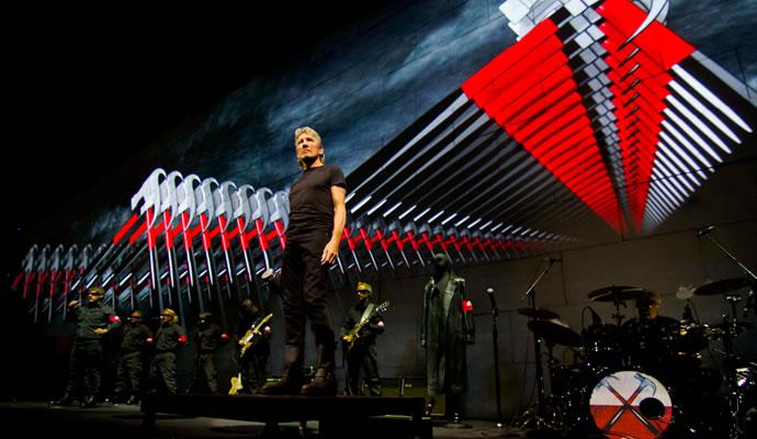Imagen de Roger Waters durante su gira The Wall