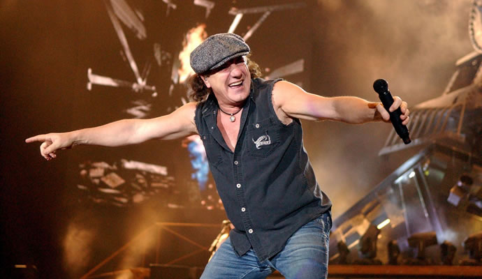 Brian Johnson vocalista de AC/DC