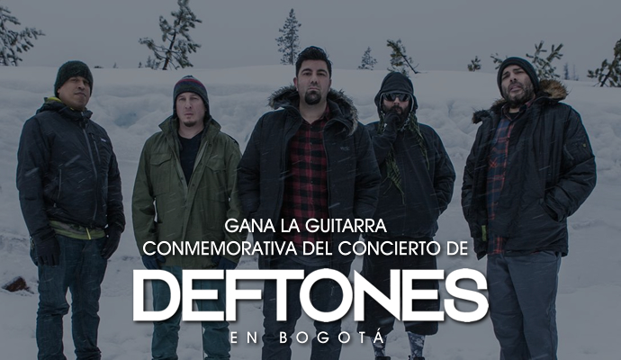 Concursa por la guitarra conmemorativa del concierto de Deftones en Bogotá
