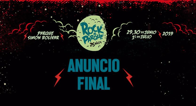 Se ha revelado el anuncio final de Rock al Parque 2019