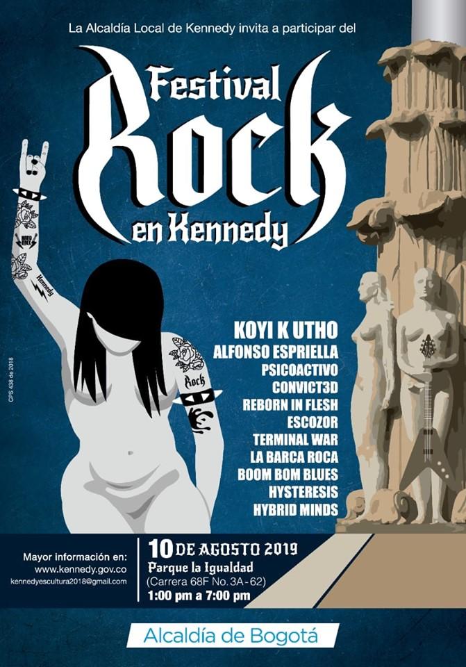 Afiche oficial Rock en Kennedy