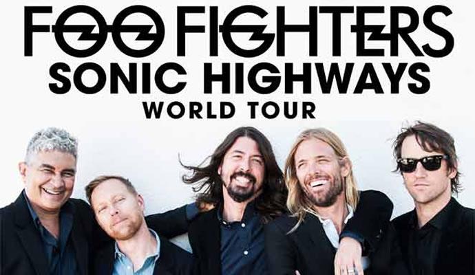 Foo Fighters estara en Bogota el 31 de Enero de 2015