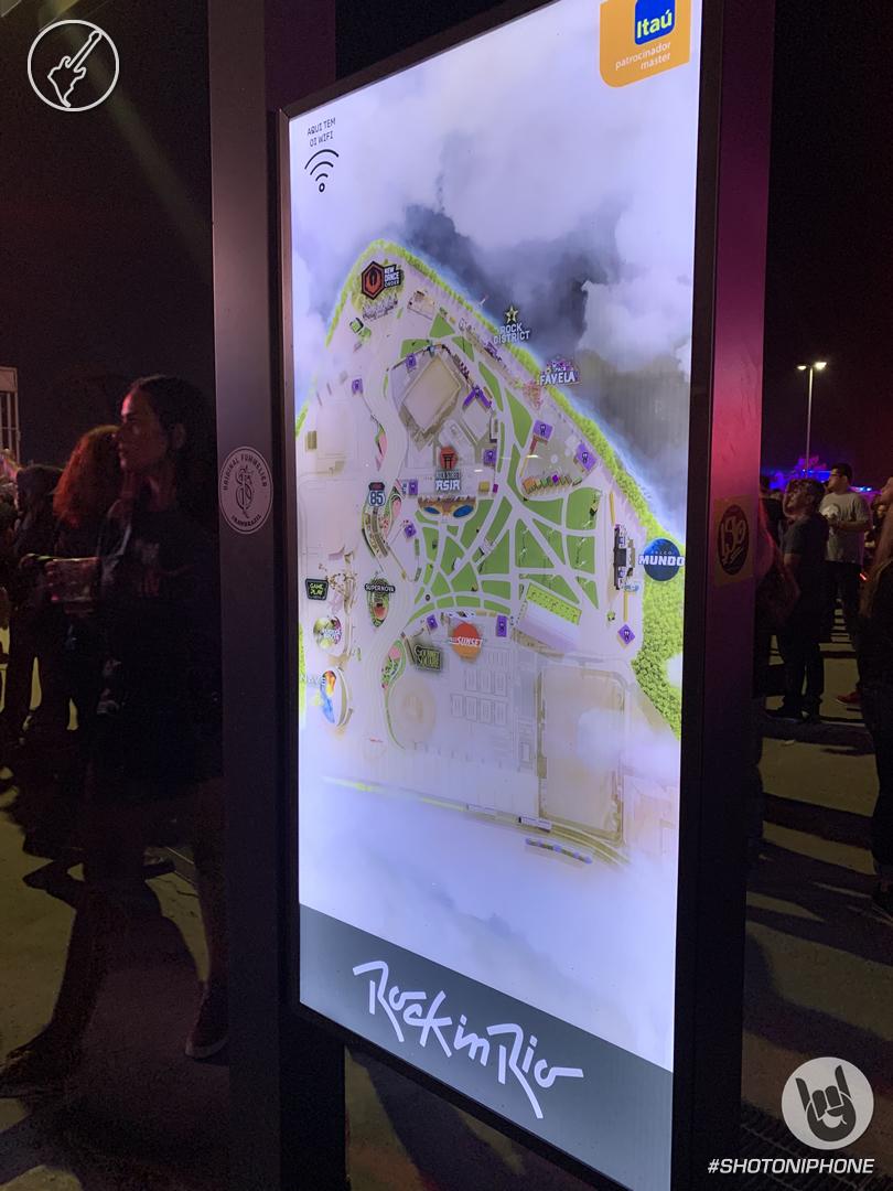 Mapa de Rock in Rio 2019