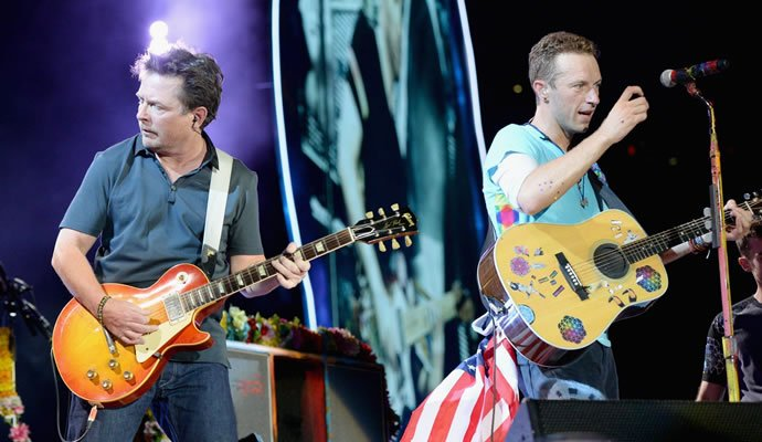 Coldplay invito al escenario a Michael J. Fox en New York